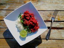 Curry z wołowiną i buraczkami
