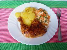 Ćwiartki z kurczaka z piekarnika