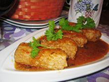 Cygara schabowe w sosie cebulowym