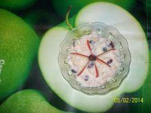 Cynamonowa owsianka z żurawiną i jabłkami