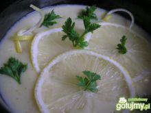 Cytrynowa zupa z imbirową nutą