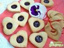 Cytrynowe ciasteczka z czarną porzeczką