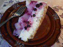 Cytrynowo - malinowy sernik na zimno z owocami