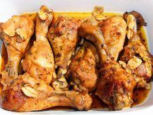 Cytrynowo-miodowe pieczone udka z kurczaka