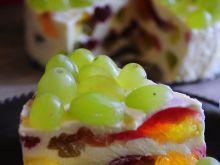 Cytrynowy kryształek - sernik z galaretkami