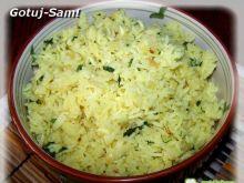 Cytrynowy ryż z szafranem