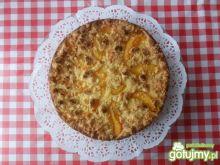 Cytrynowy sernik z brzoskwiniami