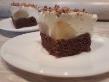 Ciasto czarno białe z gruszkami