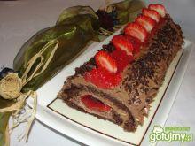 Czekoladowa rolada z kremem czekoladowym