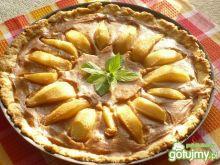 Czekoladowa tarta z gruszkami