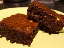 Czekoladowe brownie z masłem orzechowym