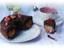 Czekoladowe ciasto z sercem