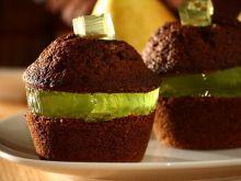 Czekoladowe muffinki z galaretką