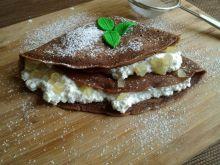 Czekoladowe naleśniki z serem i skórką cytrynową