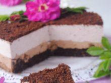 Czekoladowo-różany tort