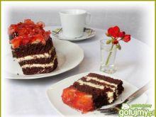 Czekoladowo-truskawkowe torciki