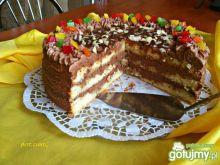 Czekoladowy tort z miętową nutą