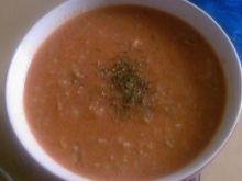 Czerwona zupa z ryżem