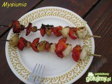 Czerwono - białe szaszłyki na grilla