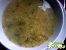 Czosnkowa zupa z kaszą jęczmienną