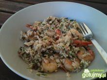 czosnkowe krewetki z ryżem PALCE LIZAĆ;)