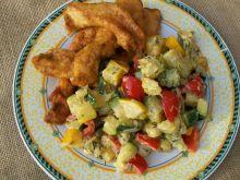 Czosnkowo-paprykowe kąski z warzywami