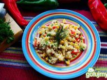Czosnkowy kuskus z warzywami