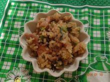 Danie na szybko z ryżu, kurczaka i pora