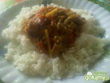 danie po chińsku z ryżem