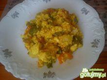 Danie ryżowo - warzywne z kurkumą