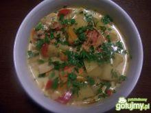 Danie zupo podobne z pikantnym kurczakie