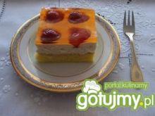 Delikatne ciasto biszkoptowe z galaretką