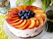 Delikatny sernik mocno owocowy bez pieczenia
