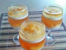 Deser brzoskwiniowo - pomarańczowy