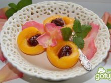 Deser brzoskwiniowo-różany