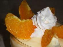 Deser budyniowy z pomarańczą