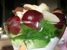 Deser ciasteczkowo-galaretkowo-owocowy