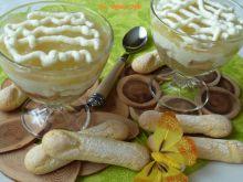 Deser jabłkowy z mascarpone, bananem i kawową nutą