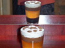 Deser kawowy z bitą śmietaną