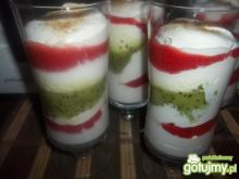 Deser owocowo-śmietanowy