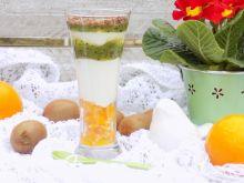 Deser owocowy z miodem i jogurtem naturalnym