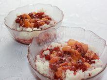 Deser ryż z owocami
