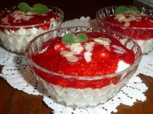 Deser ryżowo-malinowy