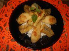 Deser ryżowy z gruszką i bananem