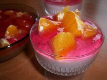Deser serowy z pomarańczą