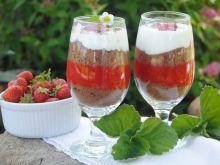 Deser truskawkowo- herbatnikowy