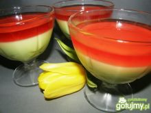 Deser z galaretki owocowej i serka homog