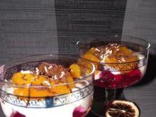 Deser z mandarynkami w syropie