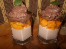 Deser z mango i galaretką