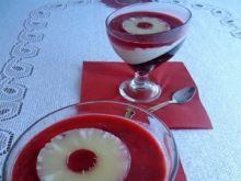 Deser z panną cottą, galaretką i owocami